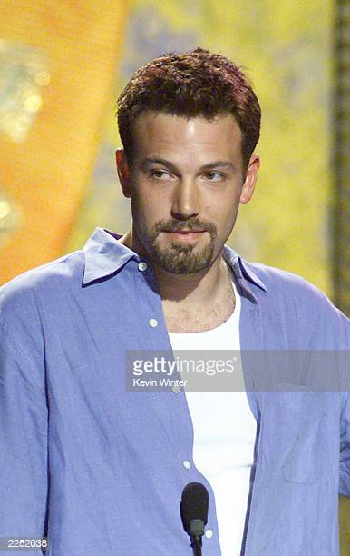 Ben Affleck received the Choice Movie Actor award at the Teen Choice Awards 2001 at the Universal Amphitheater in Los Angeles Ca 8/12/01 Photo by...