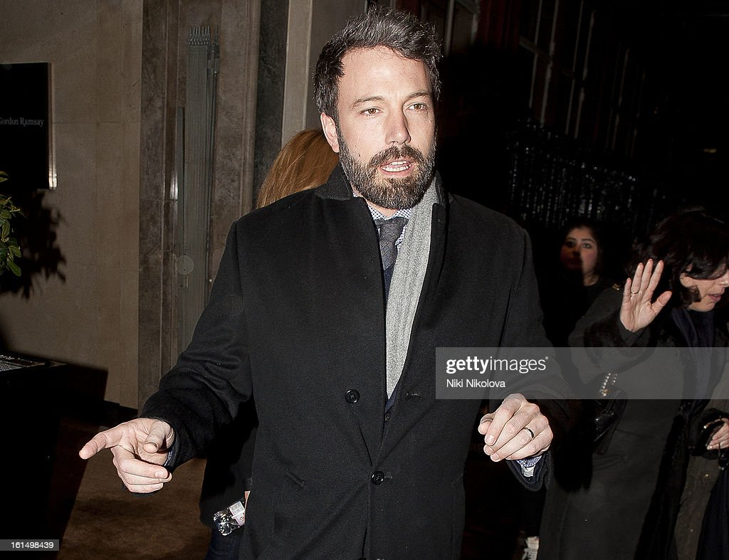 Ben Affleck sighting on February 11, 2013 in London, England.