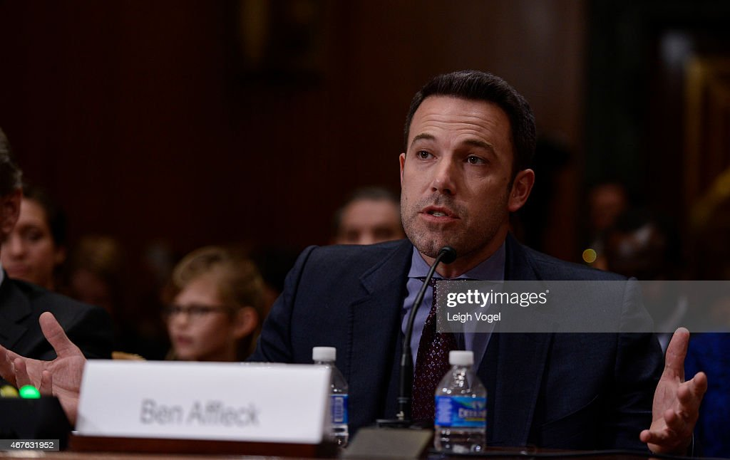 Ben Affleck speaks during the Diplomacy, Development, And National Security Hearing on March 26, 2015 in Washington, DC.