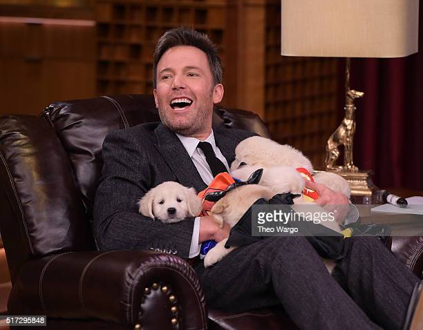 Ben Affleck Visits 'The Tonight Show Starring Jimmy Fallon' at NBC Studios on March 24 2016 in New York City