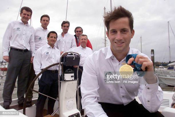 Ben Ainsley Britain's sailing gold medalist announcing his inclusion in the British Admiral's Cup team for 2001 at the Royal Southern Yacht Club in...