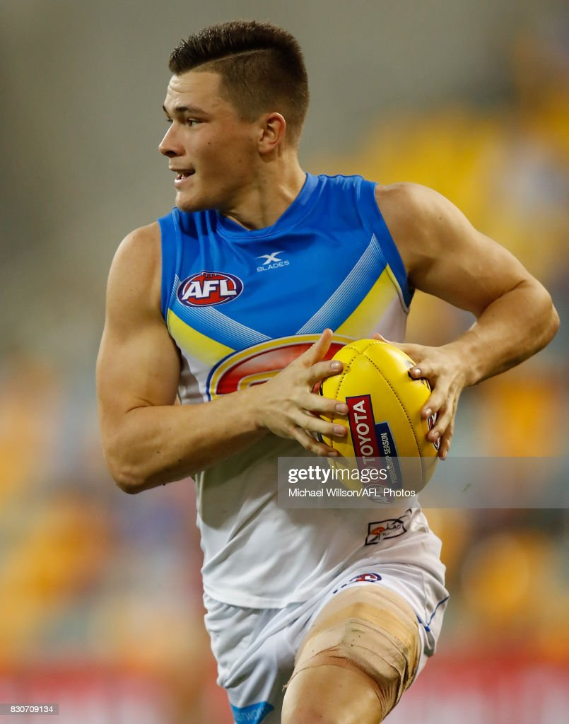 Ben Ainsworth of the Suns in action during the 2017 AFL round 21 match between the Brisbane Lions and the Gold Coast Suns at the Gabba on August 12, 2017 in Brisbane, Australia.