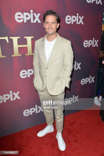 Ben Aldridge arrives at the LA Premiere of Epix's 'Pennyworth' at Harmony Gold on July 24 2019 in Los Angeles California