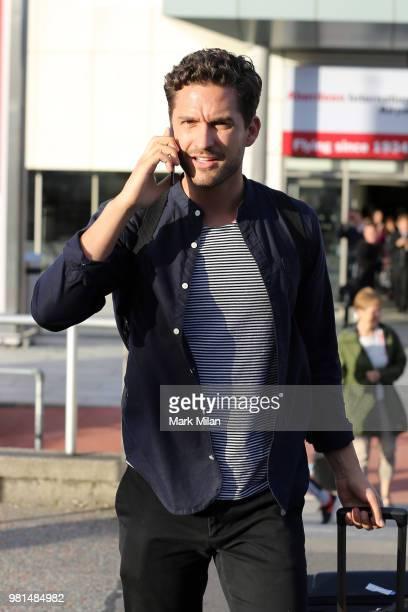 Ben Aldridge arriving at Aberdeen Airport before the wedding of Kit Harrington and Rose Leslie on June 22 2018 in Aberdeen Scotland
