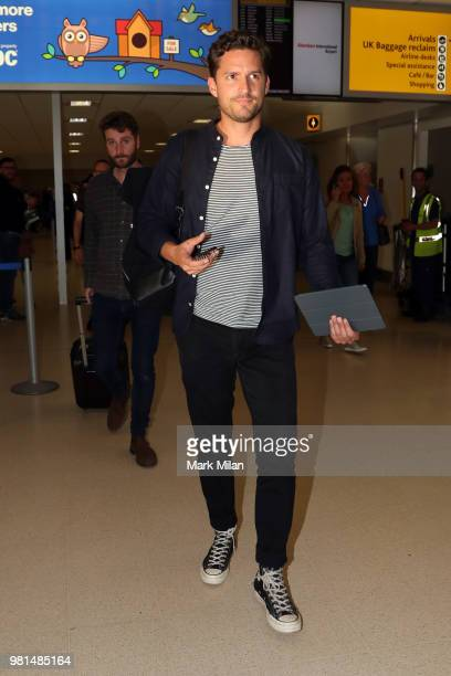 Ben Aldridge arriving at Aberdeen Airport before the wedding of Kit Harrington and Rose Leslie on June 22 2018 in Aberdeen Scotland