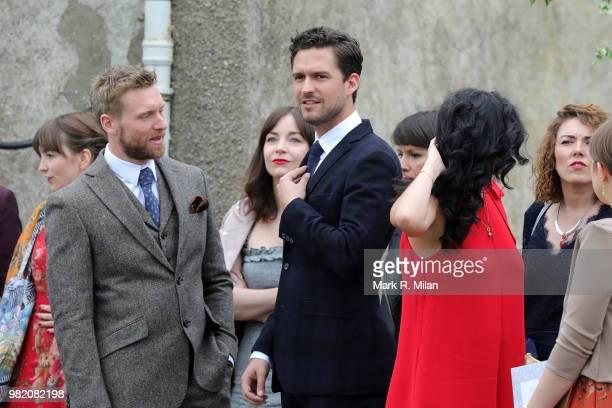 Ben Aldridge arriving at Rayne Church in Kirkton on Rayne for the wedding of Kit Harrington and Rose Leslie on June 23 2018 in Aberdeen Scotland