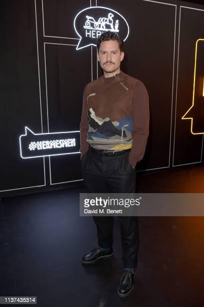Ben Aldridge attends 'Hermes Step Into The Frame' at Nine Elms on March 21 2019 in London England