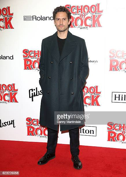 Ben Aldridge attends the opening night of 'School Of Rock The Musical' at The New London Theatre Drury Lane on November 14 2016 in London England