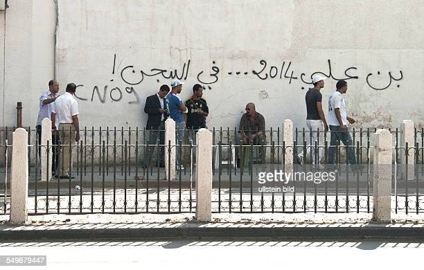 Ben Ali on his election in 2014 will be in prison instead Graffiti in Avenue Lyon near the district of Lafayette