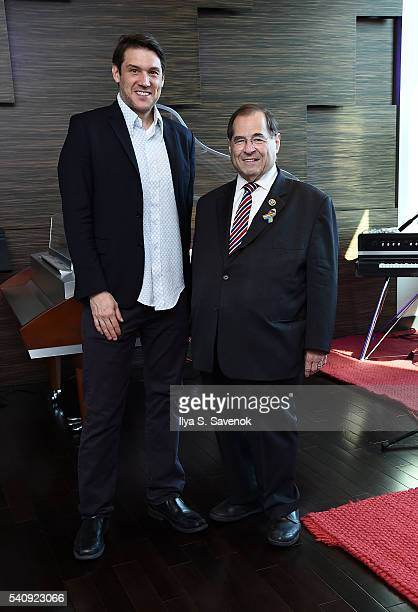 Ben Allison and Congressman Jerrold Nadler pose at Jungle City Studios on June 17 2016 in New York City