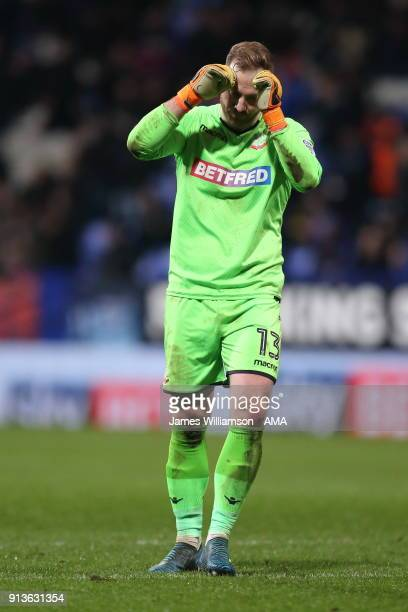 Ben Alnwick of Bolton Wanderers during the Sky Bet Championship match between Bolton Wanderers and Bristol City at Macron Stadium on February 2 2018...