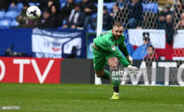 Ben Alnwick of Bolton Wanderers in action during the Sky Bet League One match between Bolton Wanderers and Northampton Town at Macron Stadium on...