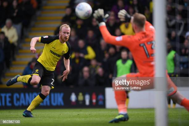 Ben Alnwick of Bolton Wanderers saves a shot from Liam Boyce of Burton Albion during the Sky Bet Championship match between Burton Albion and Bolton...