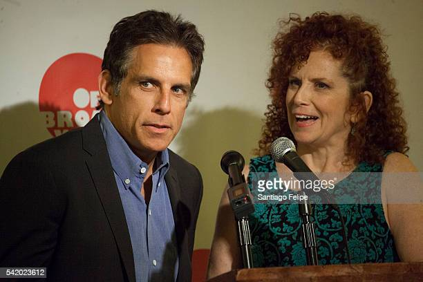 Ben and Amy Stiller attend 2016 Off Broadway Alliance Awards at Sardi's on June 21 2016 in New York City