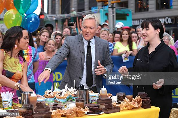 AMERICA Ben and Jerry's and GMA work together to create the new Sunrise Sundae on Good Morning America 6/27/13 airing on the Walt Disney Television...