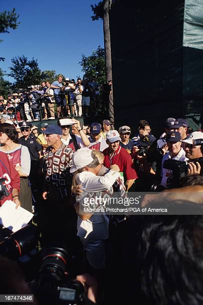 Ben and Julie Crenshaw at the 33rd Ryder Cup Matches held at The Country Club in Brookline Massachusetts Sunday September 26 1999