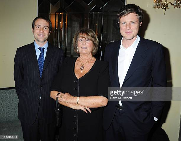 Ben and Zac Goldsmith with Lady Annabel Goldsmith attend the book launch party for Lady Annabel Goldsmith's new book No Invitation Required at...