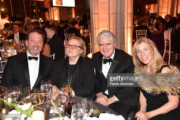 Ben Aronson Bridget Moore Joseph Deasy and Eileen Aronson attend American Federation Of Arts 2018 Gala at Guastavino's on November 8 2018 in New York...