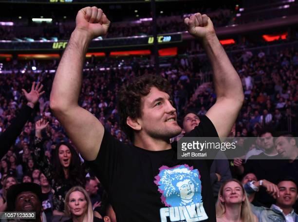 Ben Askren is seen in attendance during the UFC 230 event inside Madison Square Garden on November 3 2018 in New York New York