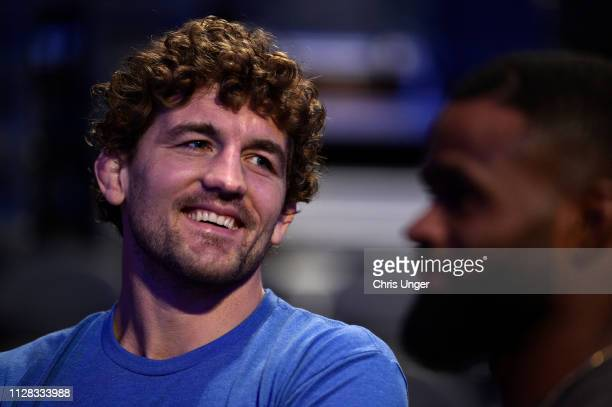 Ben Askren waits backstage during the UFC 235 weighin at TMobile Arena on March 01 2019 in Las Vegas Nevada