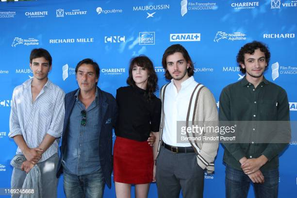 Ben Attal Director Yvan Attal Charlotte Gainsbourg Panayotis Pascot and Pablo Venzal attend the 12th Angouleme FrenchSpeaking Film Festival Day One...