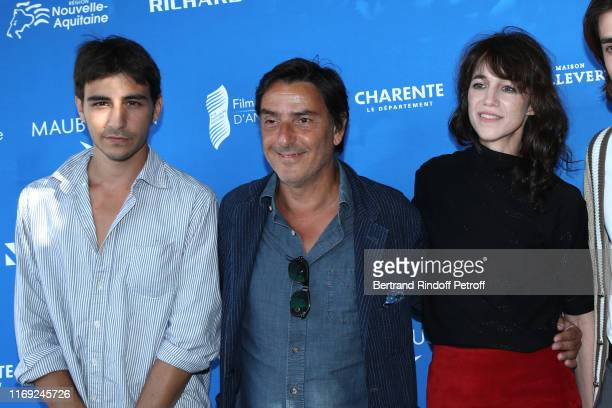 Ben Attal his father Director Yvan Attal and his mother Charlotte Gainsbourg attend the 12th Angouleme FrenchSpeaking Film Festival Day One Mon Chien...