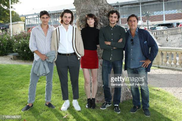 Ben Attal Panayotis Pascot Charlotte Gainsbourg Pablo Venzal and Director Yvan Attal attend the 12th Angouleme FrenchSpeaking Film Festival Day One...