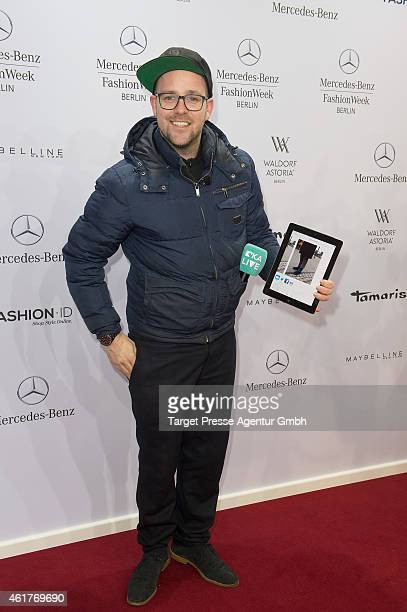 Ben attends the Odeur show during the MercedesBenz Fashion Week Berlin Autumn/Winter 2015/16 at Brandenburg Gate on January 19 2015 in Berlin Germany