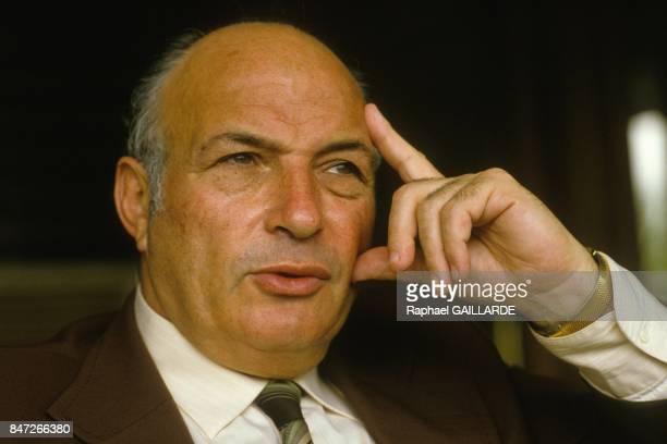 Ben Avital diplomate israelien lors d'un congres en octobre 1985 a Abidjan Cote d'Ivoire