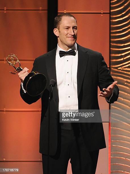 Ben Bailey accepts the Outstanding Game Show Host award for Cash Cab onstage during The 40th Annual Daytime Emmy Awards at The Beverly Hilton Hotel...