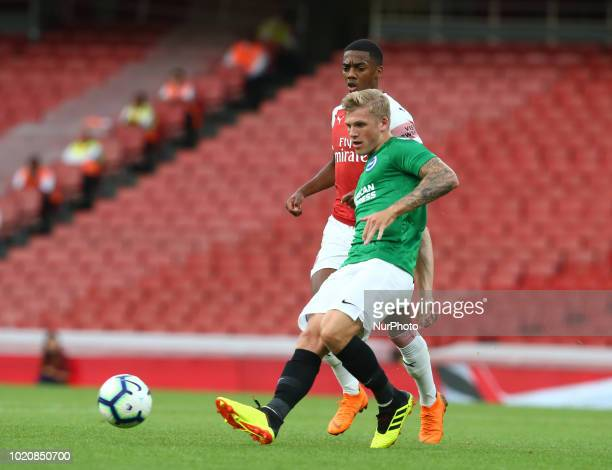 Ben Barclay of Brighton amp Hove Albion FC during Premier League 2 match between Arsenal Under 23s and Brighton and Hove Albion Under 23s at Emirates...