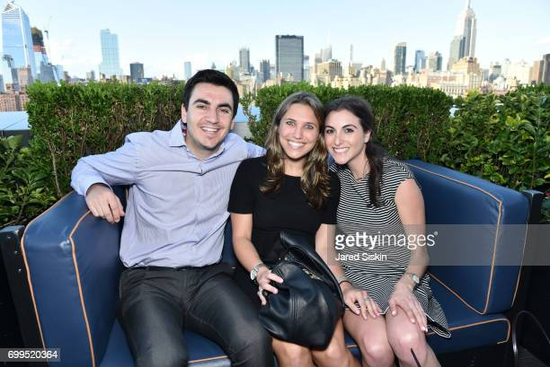Ben Barker Samantha Frankel and Michelle Goldberg attend The Junior Board of The TEAK Fellowship Presents A Midsummer Night at PhD Lounge at the...