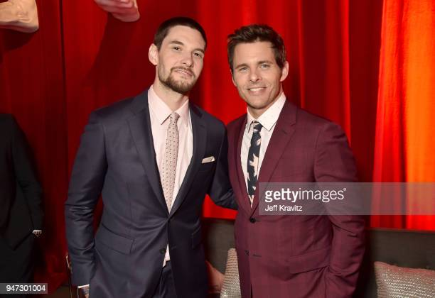 Ben Barnes and James Marsden attend the Los Angeles Season 2 premiere of the HBO Drama Series WESTWORLD at The Cinerama Dome on April 16 2018 in Los...