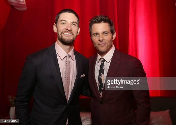 Ben Barnes and James Marsden attend the Premiere of HBO's Westworld Season 2 After Party on April 16 2018 in Los Angeles California