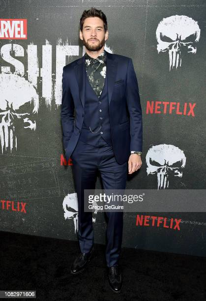 """Ben Barnes arrives at Marvel's """"The Punisher"""" Los Angeles Premiere at ArcLight Hollywood on January 14, 2019 in Hollywood, California."""