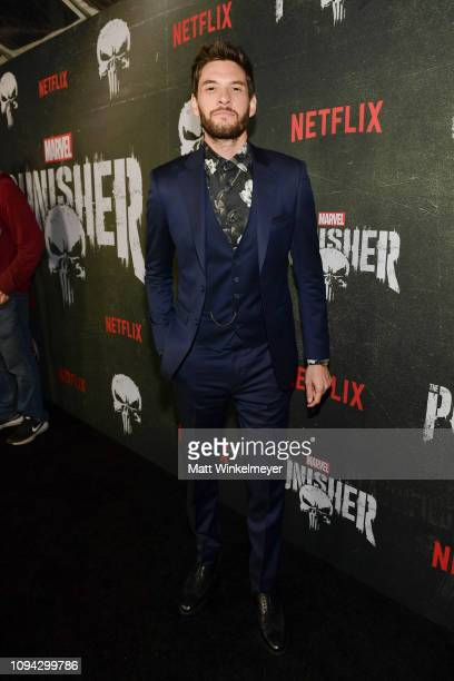 """Ben Barnes attends Marvel's """"The Punisher"""" Los Angeles Premiere at ArcLight Hollywood on January 14, 2019 in Hollywood, California."""