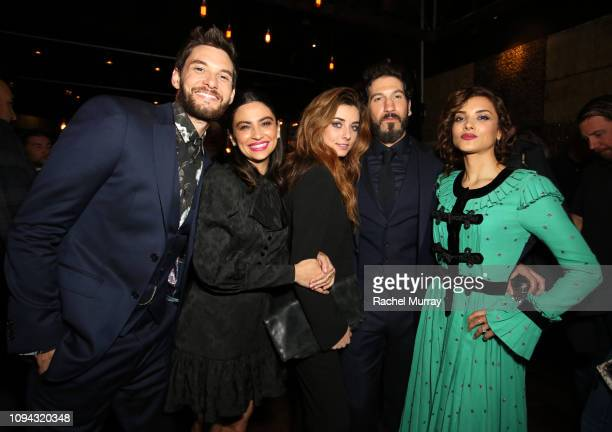 Ben Barnes Floriana Lima Giorgia Whigham Jon Bernthal and Amber Rose Revah attend Marvel's The Punisher Seasons 2 Premiere at ArcLight Hollywood on...