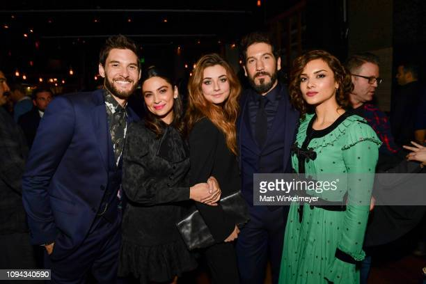 Ben Barnes Floriana Lima Giorgia Whigham Jon Bernthal and Amber Rose Revah attends Marvel's The Punisher Los Angeles Premiere at ArcLight Hollywood...