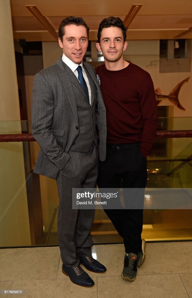 Ben Batt and Jonathan Bailey attend the press night after party for 'The York Realist' at The Hospital Club on February 13, 2018 in London, England.