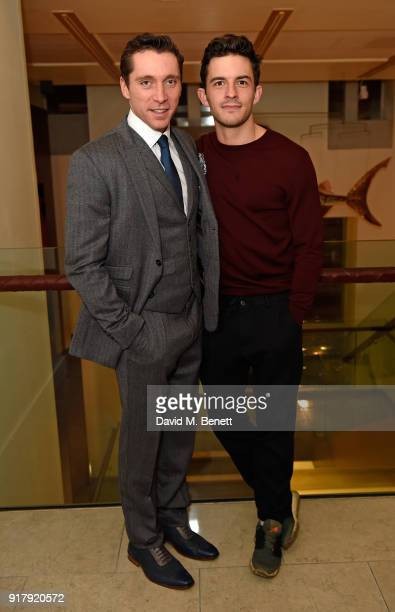 Ben Batt and Jonathan Bailey attend the press night after party for 'The York Realist' at The Hospital Club on February 13 2018 in London England