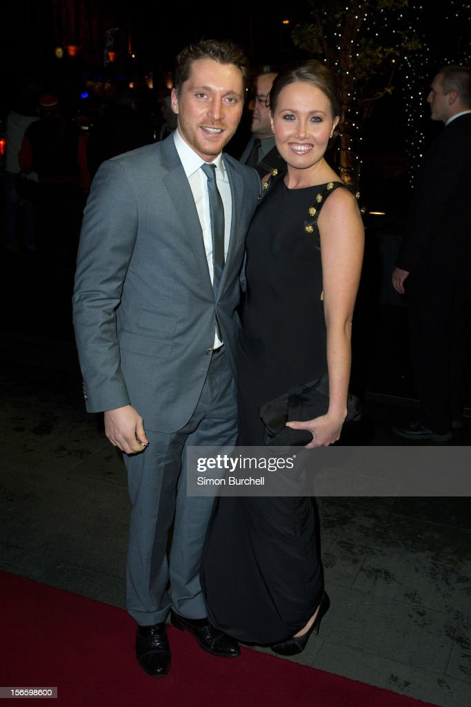 Ben Batt and Rebecca Atkinson attends the RTS North West Awards held at the Hilton Hotel in Deansgate on November 17, 2012 in Manchester, England.