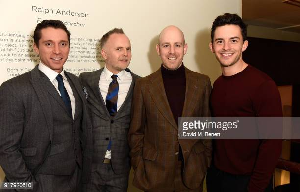 Ben Batt Peter McKintosh Robert Hastie and Jonathan Bailey attend the press night after party for 'The York Realist' at The Hospital Club on February...