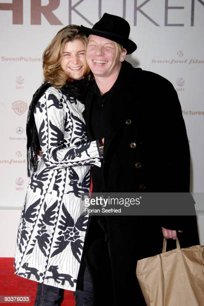 Ben Becker and Anne Seidel attend the premiere of 'Zweiohrkueken' at the Sony Center CineStar on November 24 2009 in Berlin Germany