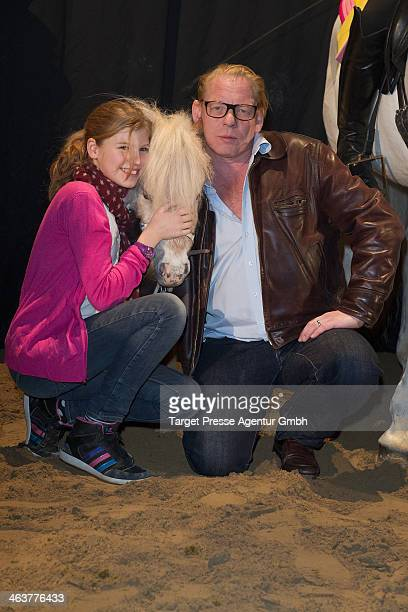 Ben Becker and his daughter Lilith attend the Apassionate VIP Reception at O2 World on January 19 2014 in Berlin Germany
