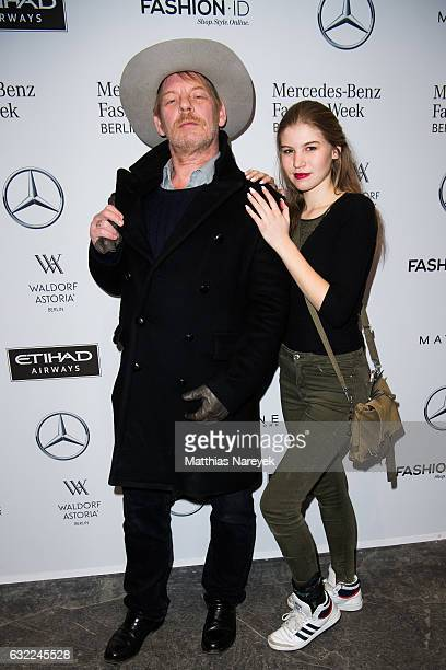 Ben Becker and his daughter Lilith attend the Odeur show during the MercedesBenz Fashion Week Berlin A/W 2017 at Kaufhaus Jandorf on January 20 2017...