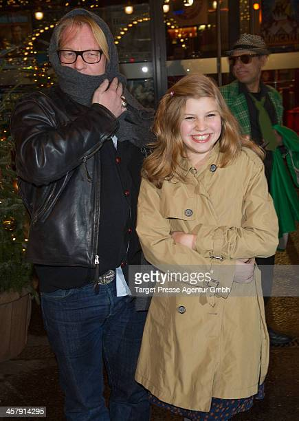 Ben Becker and his daughter Lilith Becker attend the 10th Roncalli Christmas Circus at Tempodrom on December 19 2013 in Berlin Germany