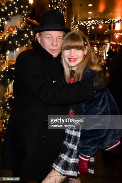 Ben Becker and his daughter Lilith Becker attend the 14th Roncalli Christmas at Tempodrom on December 16 2017 in Berlin Germany