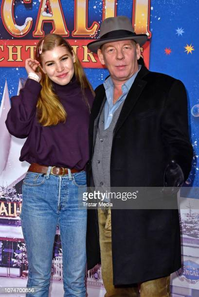 Ben Becker and his daughter Lilith Becker attend the 15th Roncalli christmas circus premiere at Tempodrom on December 22 2018 in Berlin Germany