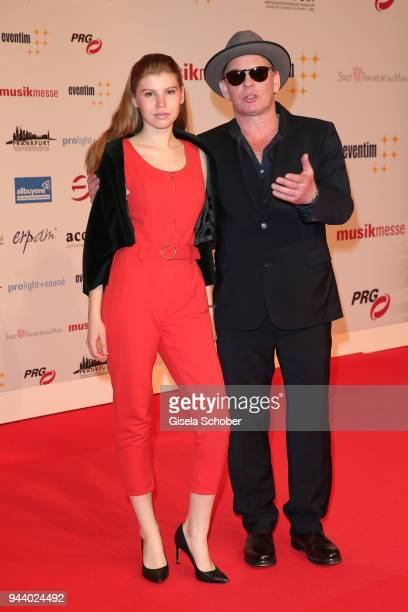 Ben Becker and his daughter Lilith Becker during the 13th Live Entertainment Award 2018 at Festhalle Frankfurt on April 9 2018 in Frankfurt am Main...