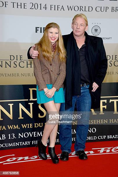Ben Becker and Lilith Becker attend 'Die Mannschaft' Premiere In Berlin on November 10 2014 in Berlin Germany